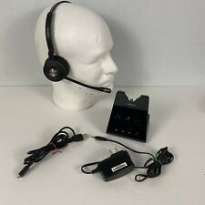 Jabra Engage 65 Stereo Headset Works Wirelessly from Base  Connect 2 phones