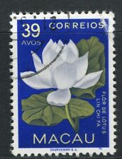 PORTUGAL MACAU  1953 early Flower issue fine used 39a. value