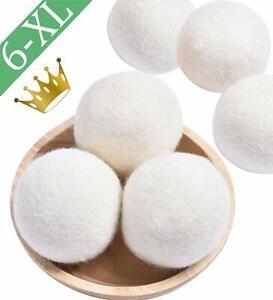 6 Lana Asciugatrice Palline XL Biologico Nuova Zelanda Naturale Bucato Tessuto