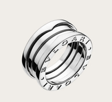 Bvlgari B.Zero 1 - three band spring movement 18ct white gold ring, size 55