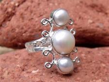 Perla De Plata 925 Anillo Tamaño P * Us 7.75 silverandsoul artesanales de joyas