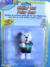 Webkinz Chillin' Out Polar Bear Figure w/code 4 Magical Forest Free Us Shipping