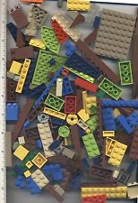 LEGO x 140 Pieces Bricks, Plates, Slopes, Panels, and Wedges mixed lot colors