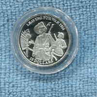 2014 Kiribati $10 Silver coin Leaving for War 1914 WW1 Commemorative Rifle  K-53