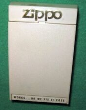 Slim Zippo Gold Tone Lighter with Wavy Front inscribed Chappy