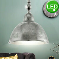 RETRO LED Hänge Lampe Gäste Schlaf Zimmer Leuchte Decken Pendel Chrom Strahler