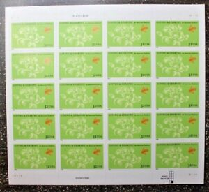 Stamp Sheet MNH Pane of 20 #3243 GIVING AND SHARING 1998 CV$13 Tradition Green