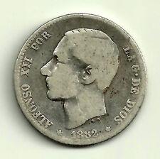 ALFONSO XII. 1 PESETA DE 1882*(---82) MADRID MS-M (BC-) PLATA