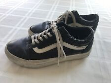 VANS Youth Mens Sz 4.5 Womens 6 Black Skate Shoe Sneakers TS9