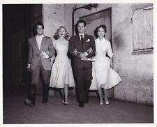 JANET LIEGH TONY CURTIS BETTY GARRETT LARRY PARKS Vintage CANDID Van Pelt Photo