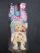 "Ty Beanie Baby ""Glory the Bear"" still in box date of birth 1996 error Oak Brook"