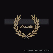 Audi Racing Wreath Decal Sticker logo A4 S4 S3 S5 A5 A6 R8 TT RS Pair