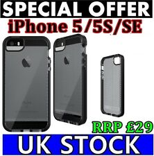 IPhone 5 5s Nero se TECH 21 Impactology EVO MESH Mobile Custodia Cover Retail Pack