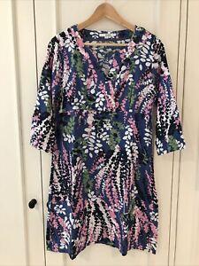 Boden Linen Tunic Dress 12 Long