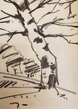 "JOSE TRUJILLO - NEW ARTS Original Charcoal Paper Sketch Drawing 12"" COLLECTIBLE"
