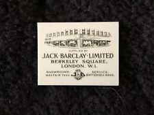 Rolls-Royce Silver Cloud Silver Shadow Jack Barclay London Dealer Placard Badge