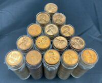 1957-1958 Old Brilliant Uncirculated BU Wheat Penny Rolls Cents US Coins Pennies
