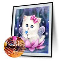 Cute Cat 5D Diamond Painting Embroidery DIY Cross Stitch Craft Home Decor