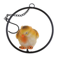 Outdoor Garden Resin Animal Bird Gift Ornament Standing in The Ring Tree #1