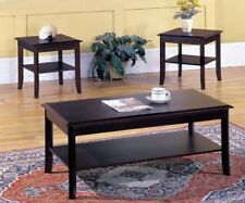 Kings Brand - 3 Piece Wood Occasional Coffee Table & 2 End Tables Set, Cherry
