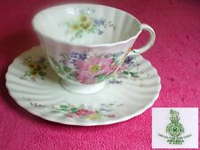 "Royal Doulton (Arcadia) 2 1/2"" CUP & SAUCER SET Pat #H4802 Green Mark w/Pat #"