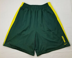 Oregon DUCKS Football TEAM ISSUED Nike Mesh Lined Workout SHORTS    MEN'S  2XL