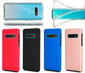 For Samsung S21 S20 S10 S9 S8 S7 Phone Case Shockproof 360° TPU Protective Cover