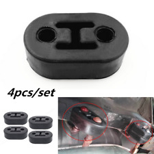 4x Black 11mm Car Rubber Exhaust Tail Pipe Mount Brackets Hanger Insulator 2Hole