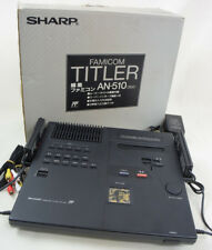 FAMICOM TITLER SHARP Console System AN-510 Black JAPAN FREE SHIPPING Ref/312629