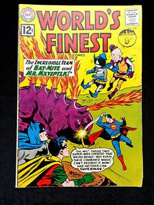 VINTAGE WORLDS FINEST DC COMICS No.123 FEB 1962 SUPERMAN & BATMAN