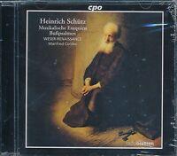 Heinrich Schutz Musikalische Exequiem CD NEW Manfred Cordes Wesser-Renaissance
