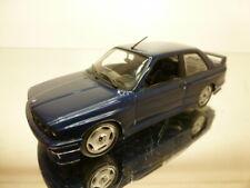 MINICHAMPS BMW M3 E30 - BLUE METALLIC + BLACK INTERIOR 1:43 (rare) - VERY GOOD