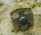 Vintage Navajo Old Pawn Sterling Silver with Turquoise Stone Adjustable Ring