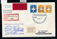 97395) DDR Zeppelin Landungsfahrt Leipzig - Eisenberg.. Brf Eil-Reco 1988   CH