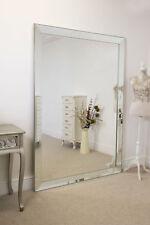 Frameless Large Venetian All Glass Leaner Modern Wall Mirror 202cm X 141cm