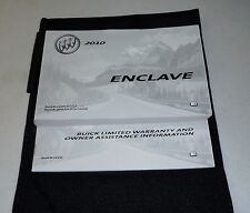 Buick enclave manuals literature ebay 2010 buick enclave owners manual 10 set guide wcase sciox Image collections
