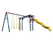 Lifetime Playground 90177 Primary Color Monkey Bar Swing Set