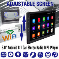 9'' Android 8.1 Autoradio 1 Din GPS Navi WiFi bluetooth Ajustable USB FM 1G+16G