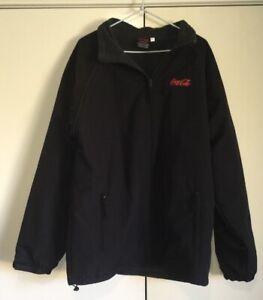 Coca Cola Wet Weather Men's Jacket Size 2XL Windbreaker Reversible Adjustable