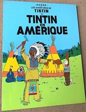 More details for tintin in america cover - ltd laquer frame print/plaque 40x30cm poster herge