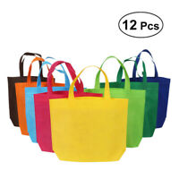 12X Non-woven Bags Reusable Shopping Grocery Tote Bags Party Favors Gift Bags
