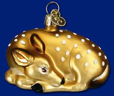 *Fawn* Deer Doe Buck [13201] Old World Christmas Glass Ornament - NEW