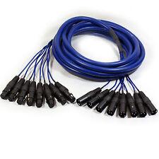 6m 8-Way XLR Macho a Hembra Cable Telar Plomo-Micrófono etapa Serpiente Multicore