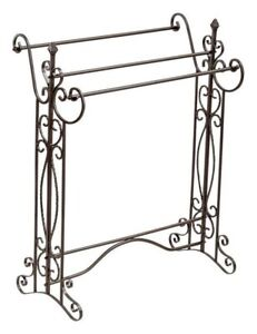 Victorian Trading Co Ornate Wrought Iron Victorian Quilt Rack