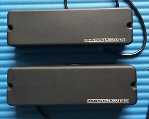 (LAST ONE) SEYMOUR DUNCAN ASB-5 BASSLINES 5 BASS STRING PICKUP SET - BLACK