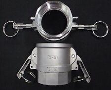 Stainless Steel Cam Lock Adapter 2 Female 2 Npt Female Nipple Cl24 200