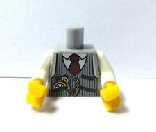 Lego 1 Body Torso For Minifigure Grey Waist Coat Pocket Watch Groom Business