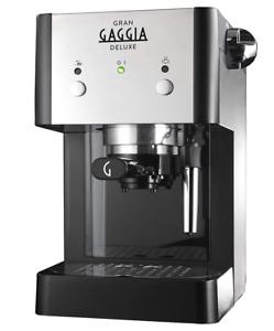 Neu Gran Gaggia RI8425 Deluxe Espressomaschine Kaffeepulver u.ESE Pads geeignet