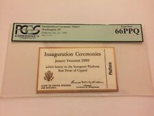 1969 PRESIDENT RICHARD NIXON INAUGURATION Ticket VIP PLATFORM Rotunda PCGS 66PPQ