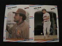 1988 Fleer Baseball SAN DIEGO PADRES TEAM SET Gwynn Kruk Santiago Gossage